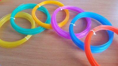 6x 10m - PLA Gläsernes | Filament paket (etwa. 200g)
