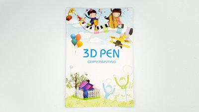 3D-Vorlagenheft | Lernen Sie einfach mit den 3D-Stift zeichnen! (40 Seiten)